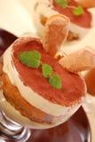 Sobremesa de Tiramisu Imagens de Stock