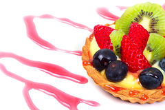 Sobremesa deliciosa com frutas Imagem de Stock