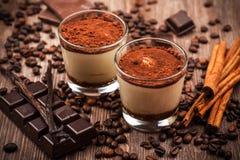 Sobremesa deliciosa do tiramisu Imagem de Stock