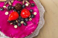 Sobremesa deliciosa na placa Foto de Stock