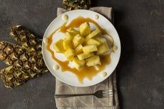 Sobremesa do abacaxi Fotos de Stock
