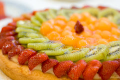 Sobremesa do bolo da fruta Foto de Stock Royalty Free