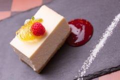 Sobremesa do bolo de queijo Fotografia de Stock
