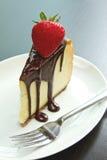 Sobremesa do bolo de queijo do chocolate Imagens de Stock