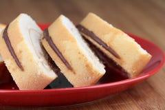 Sobremesa do bolo do rolo Imagem de Stock Royalty Free