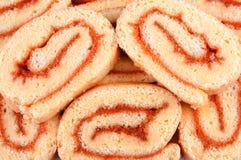 Sobremesa do bolo do rolo Imagens de Stock Royalty Free