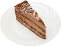 sobremesa do bolo do tiramisu com frutos, porcas e queijo creme Fotografia de Stock Royalty Free