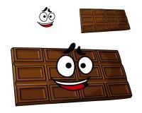 Sobremesa do chocolate dos desenhos animados ilustração stock
