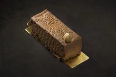 Sobremesa do chocolate em um fundo preto Fotografia de Stock Royalty Free