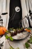 Sobremesa do dragão de Dia das Bruxas Fotos de Stock Royalty Free