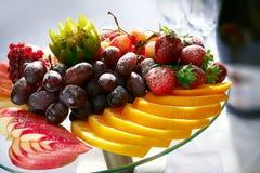 Sobremesa do fruto imagem de stock