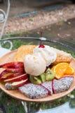 Sobremesa do fruto da mistura Fotos de Stock