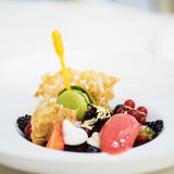 Sobremesa do gourmet Foto de Stock