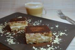 Sobremesa do italiano do Tiramisu Imagens de Stock Royalty Free