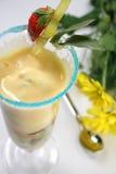 Sobremesa do leite Imagens de Stock