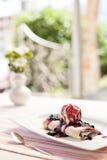 Sobremesa do mirtilo Foto de Stock