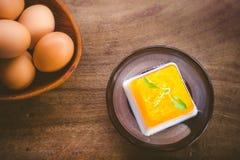 Sobremesa do ovo Fotografia de Stock Royalty Free