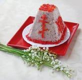 Sobremesa do quark do Pasha (paskha, pashka) para easter Imagem de Stock Royalty Free
