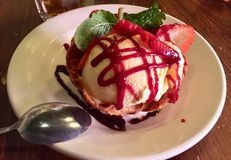 Sobremesa do special do gelado de baunilha Imagens de Stock