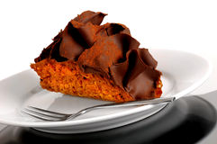 Sobremesa do Taco do chocolate fotografia de stock royalty free