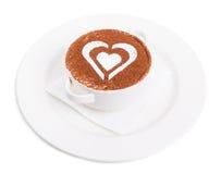 Sobremesa do Tiramisu decorada com chocolate Imagens de Stock