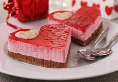 Sobremesa do Valentim Imagem de Stock Royalty Free