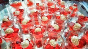 sobremesa do vermelho da geleia Fotos de Stock Royalty Free
