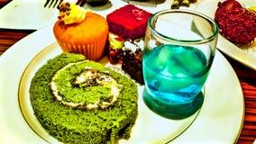 Sobremesa doce colorida Foto de Stock Royalty Free