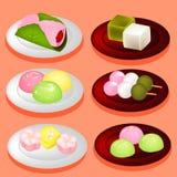 Sobremesa doce de Japão da cor Imagem de Stock Royalty Free