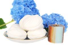 Sobremesa dos Marshmallows. imagem de stock