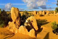 A sobremesa dos pináculos famosa para suas formações de rocha da pedra calcária Imagem de Stock Royalty Free