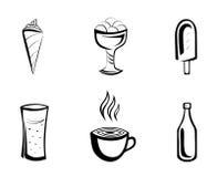 Sobremesa e bebidas Imagens de Stock Royalty Free