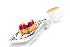 Sobremesa e café Imagem de Stock Royalty Free
