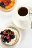 Sobremesa e café Imagem de Stock