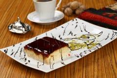 Sobremesa e café de Trilece Fotografia de Stock