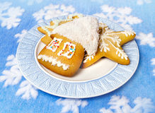 Sobremesa e decoração do Natal Fotos de Stock