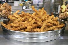 Sobremesa espanhola famosa - Churros Imagem de Stock