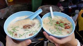 Sobremesa famosa Cendol de Ásia fotografia de stock