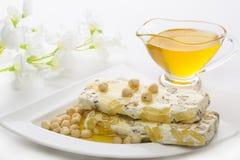 Sobremesa festiva em uma placa branca Imagem de Stock