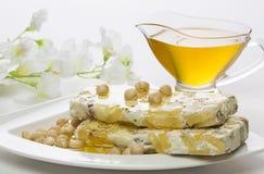 Sobremesa festiva em uma placa branca Imagem de Stock Royalty Free