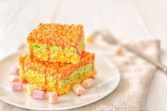 Sobremesa friável colorido Fotos de Stock Royalty Free