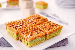 Sobremesa friável colorido Imagens de Stock Royalty Free