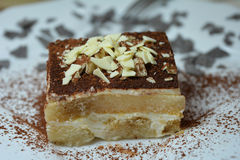 Sobremesa italiana do Tiramisu Fotos de Stock Royalty Free