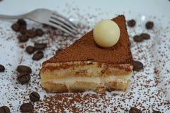Sobremesa italiana do Tiramisu Imagem de Stock