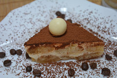 Sobremesa italiana do Tiramisu Imagens de Stock