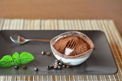 Sobremesa italiana do Tiramisu Foto de Stock