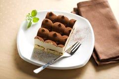 Sobremesa italiana do tiramisu fotos de stock