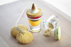 Sobremesa luxuoso e açúcar mascavado Foto de Stock