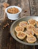 Sobremesa Mini Pies de Peacan Fotos de Stock Royalty Free