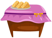 Sobremesa na tabela de madeira Fotografia de Stock Royalty Free